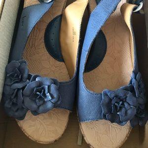 boc Shoes - blue boc wedge sandals